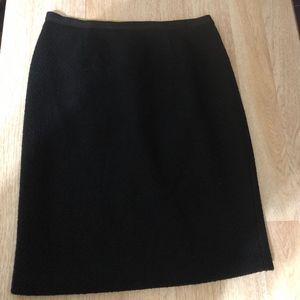 Boden Black Wool Skirt 12L